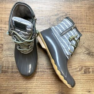 Sperry Top-Sider Saltwater Stripe Boots 6